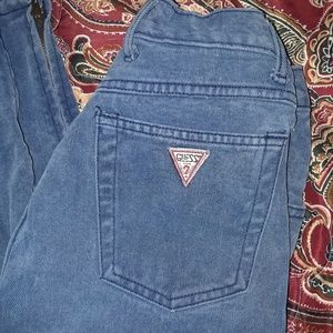 Vintage Guess Jeans with zipper ankles